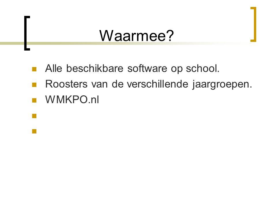 Waarmee Alle beschikbare software op school.