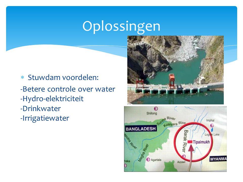 Oplossingen Stuwdam voordelen: