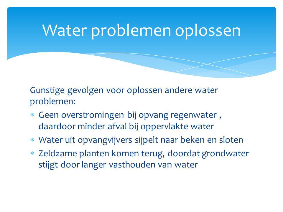 Water problemen oplossen