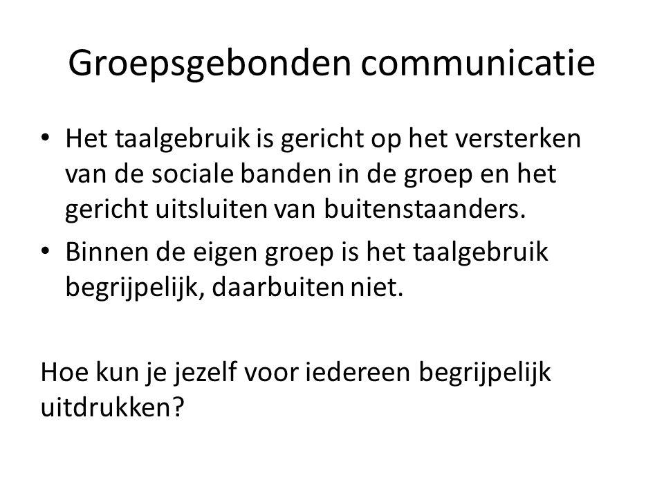 Groepsgebonden communicatie