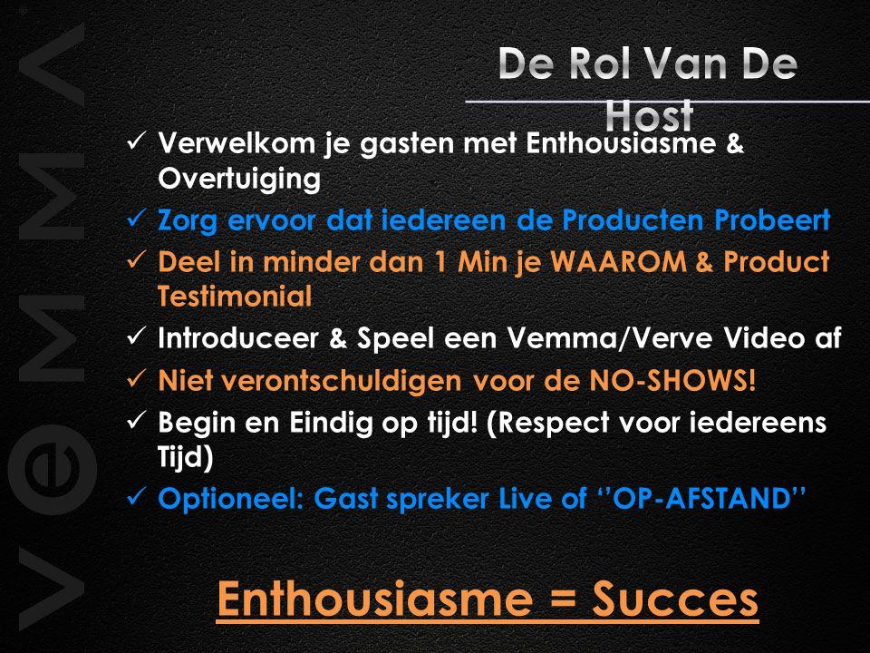 Enthousiasme = Succes De Rol Van De Host