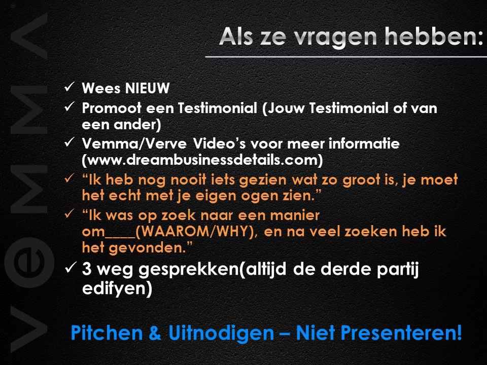 Pitchen & Uitnodigen – Niet Presenteren!