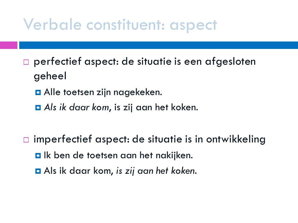Verbale constituent: aspect
