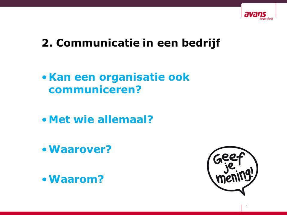 2. Communicatie in een bedrijf