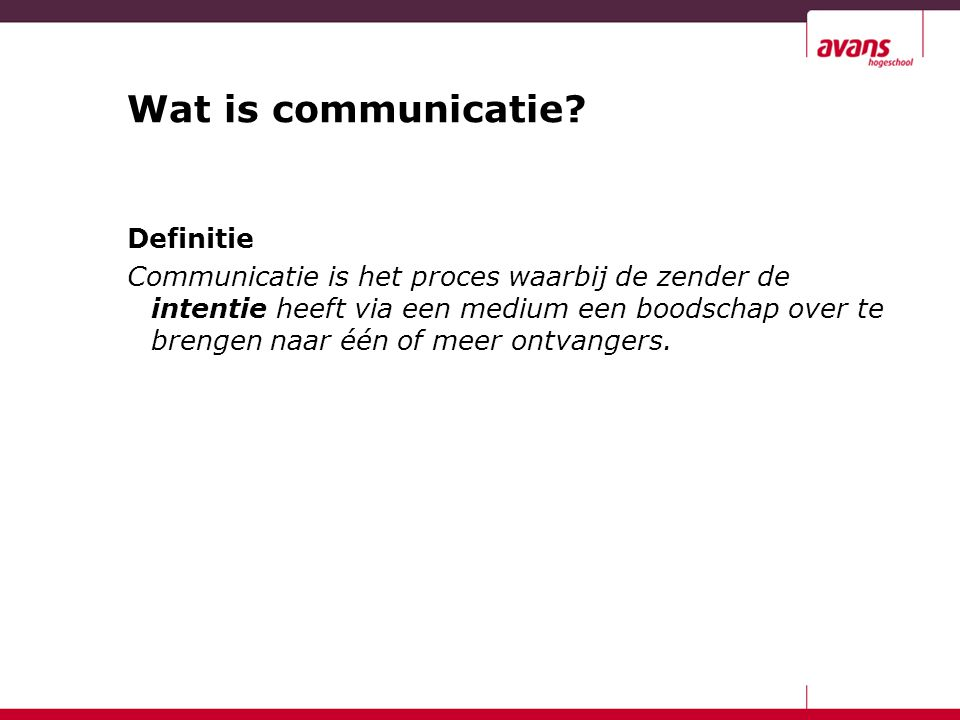 Wat is communicatie Definitie