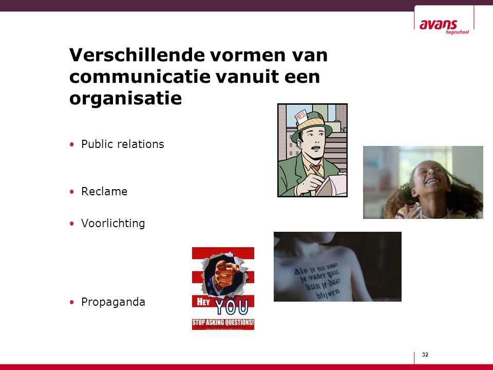 Verschillende vormen van communicatie vanuit een organisatie