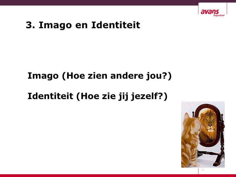 Imago (Hoe zien andere jou ) Identiteit (Hoe zie jij jezelf )