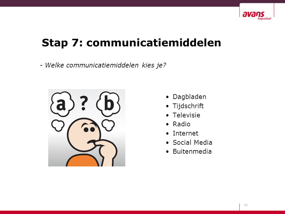 Stap 7: communicatiemiddelen