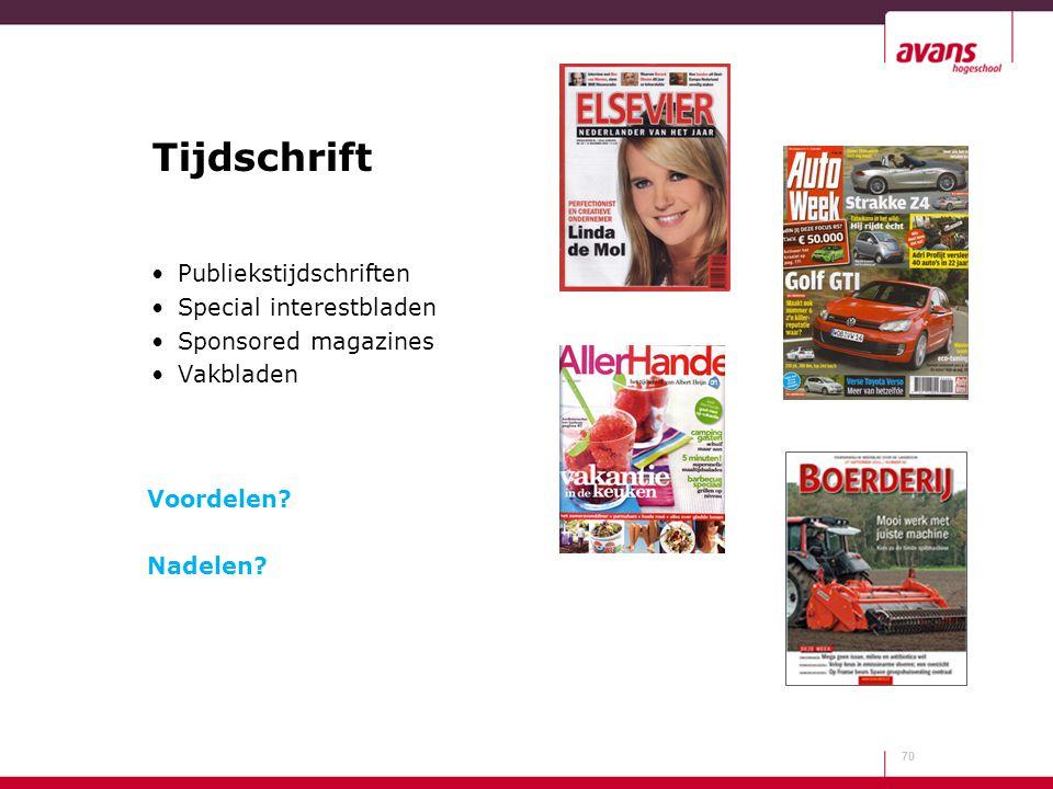Tijdschrift Publiekstijdschriften Special interestbladen