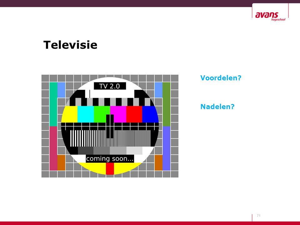 Televisie Voordelen Nadelen