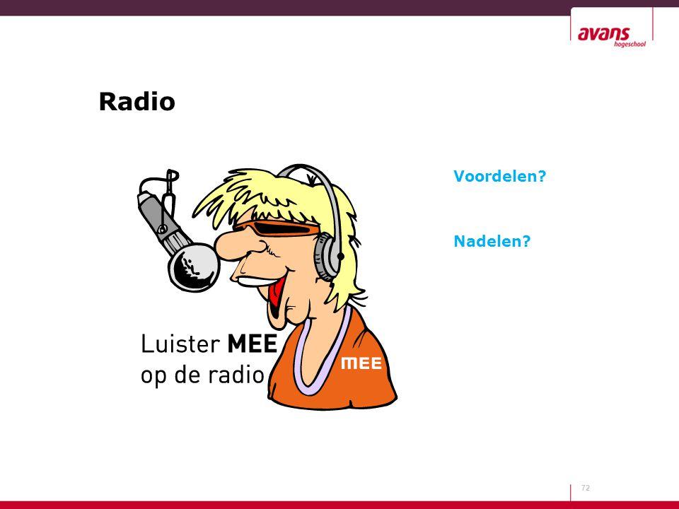 Radio Voordelen Nadelen