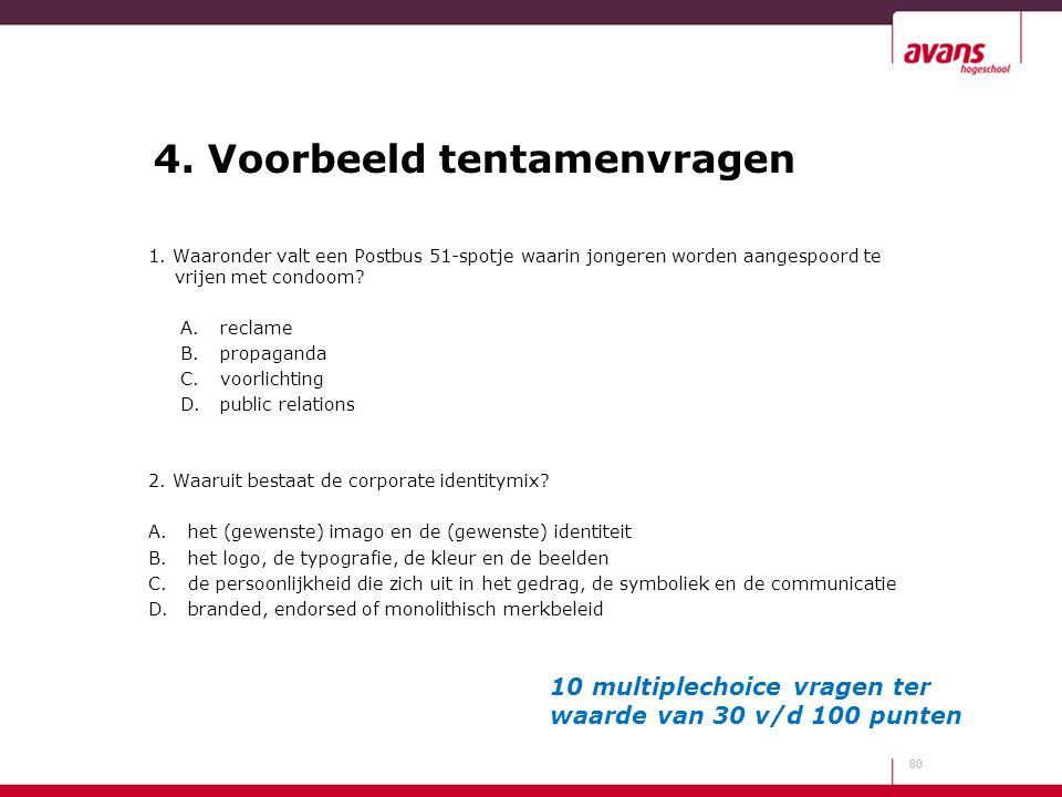 4. Voorbeeld tentamenvragen