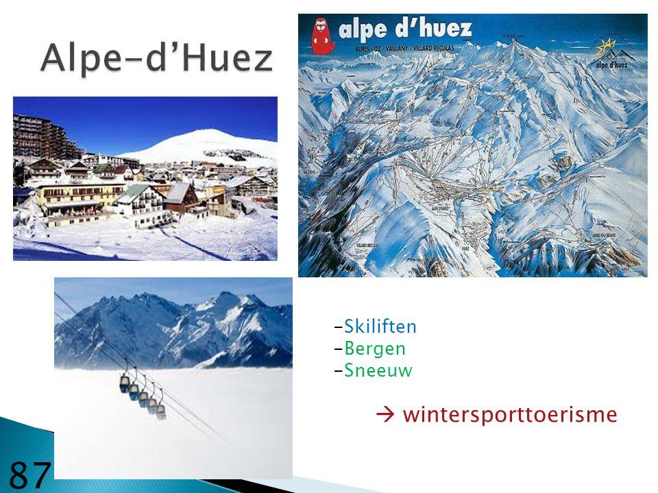 Alpe-d'Huez -Skiliften -Bergen -Sneeuw  wintersporttoerisme 87