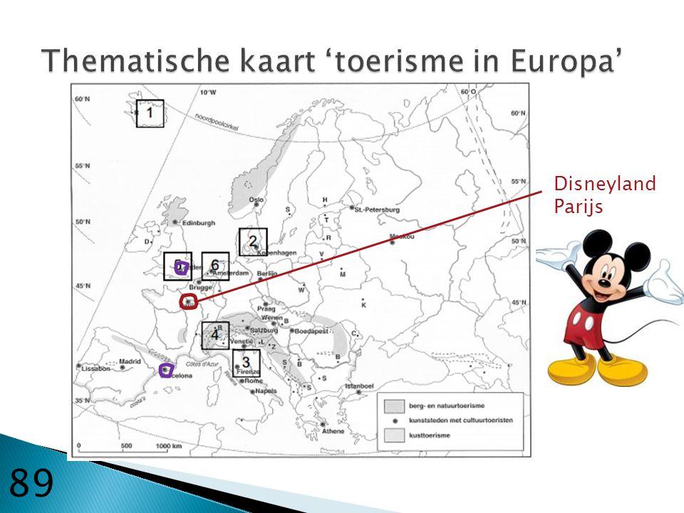 Thematische kaart 'toerisme in Europa'