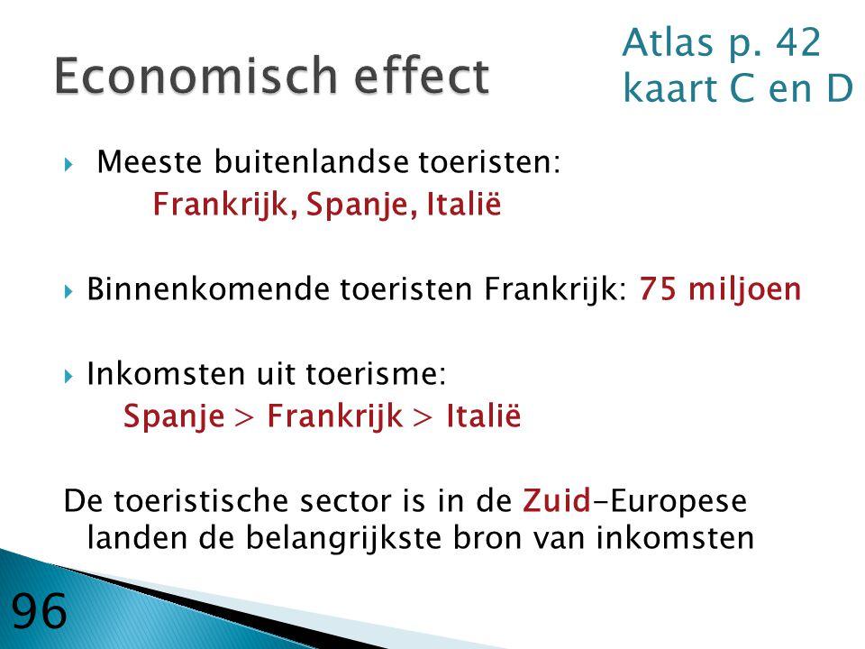 Economisch effect 96 Atlas p. 42 kaart C en D
