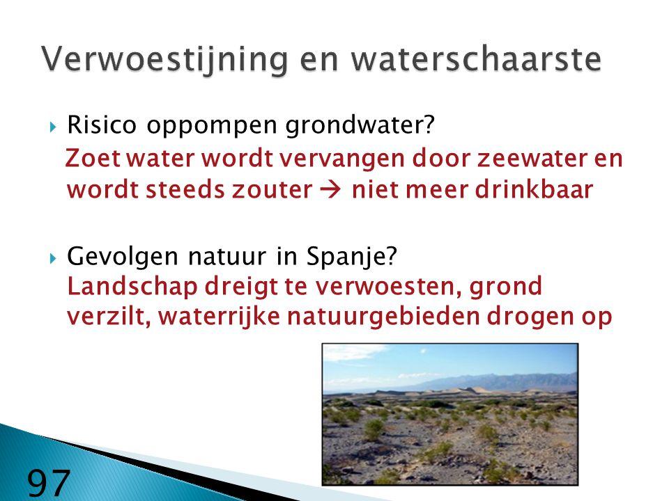 Verwoestijning en waterschaarste