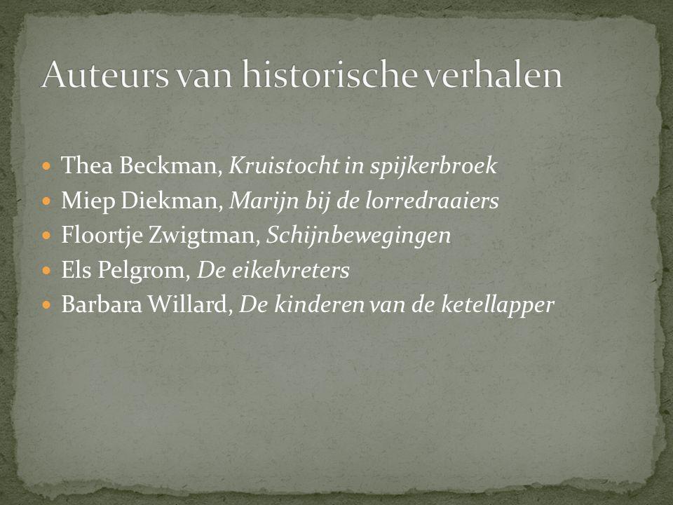 Auteurs van historische verhalen