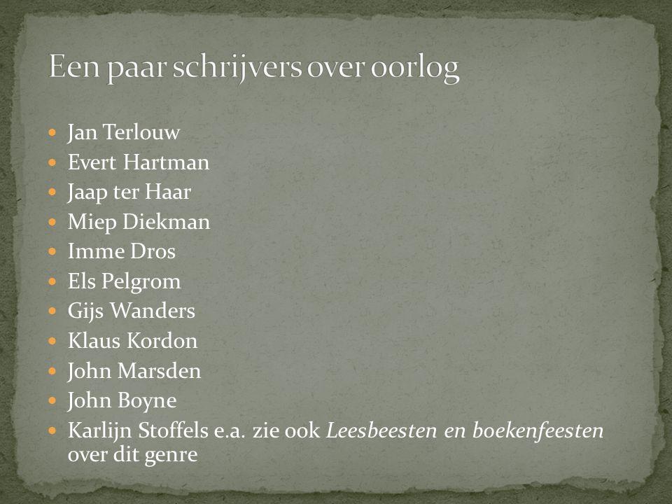 Een paar schrijvers over oorlog