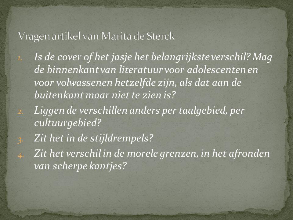 Vragen artikel van Marita de Sterck