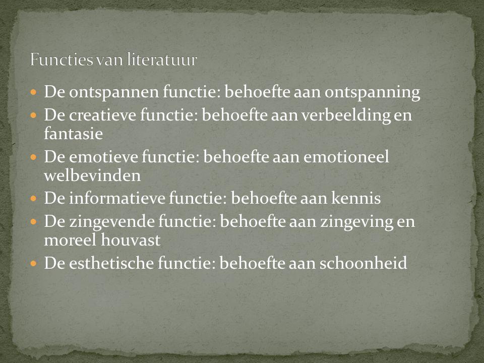 Functies van literatuur