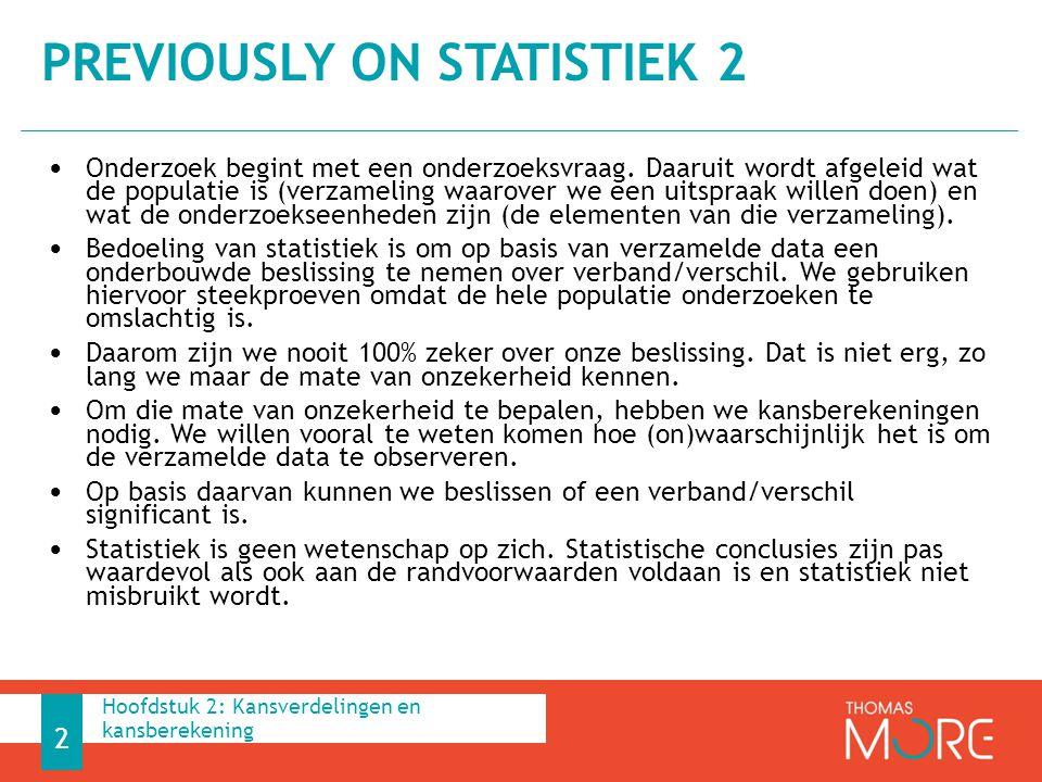 Previously on Statistiek 2