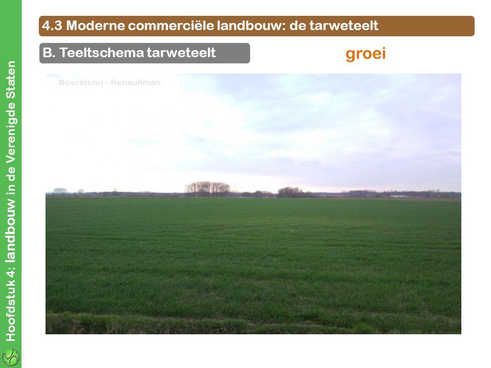 groei 4.3 Moderne commerciële landbouw: de tarweteelt