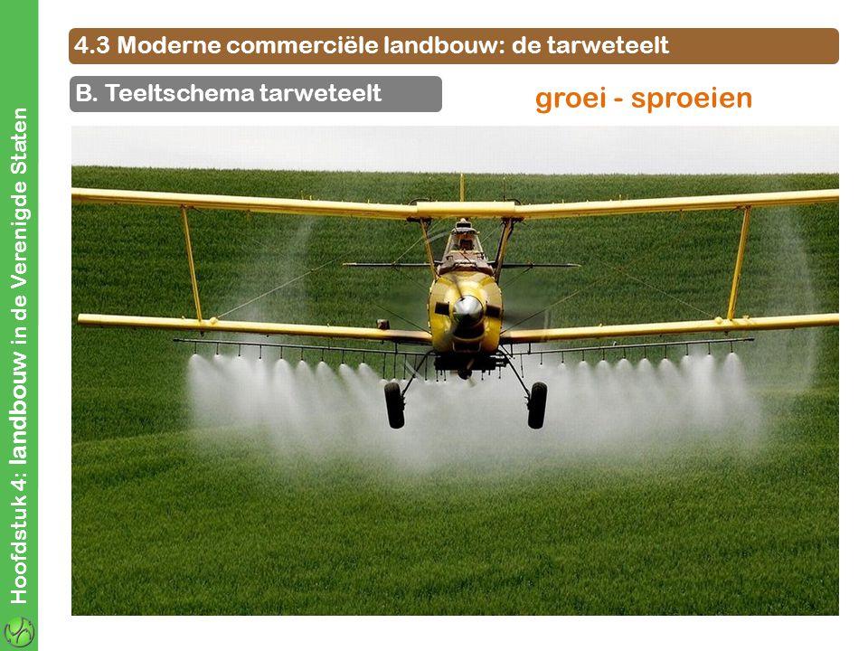 groei - sproeien 4.3 Moderne commerciële landbouw: de tarweteelt