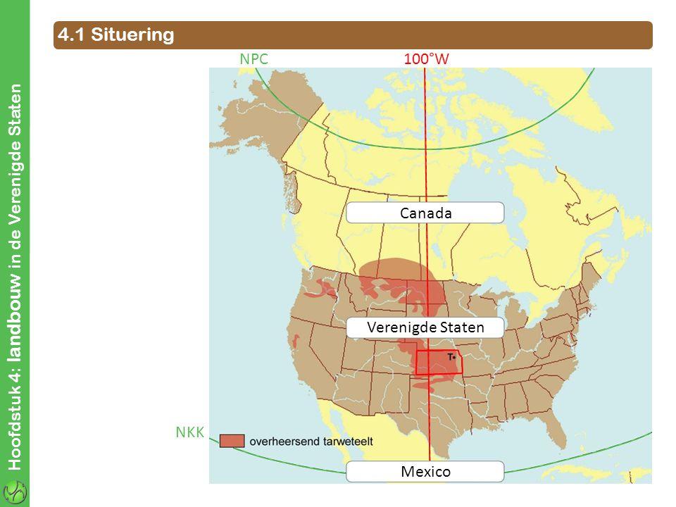 4.1 Situering Hoofdstuk 4: landbouw in de Verenigde Staten Canada