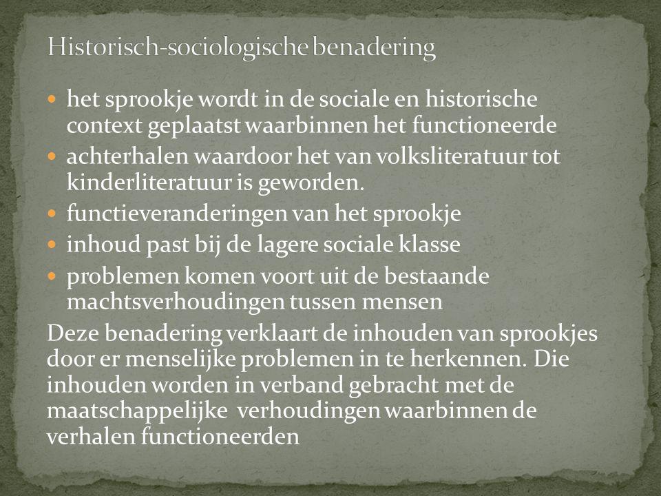Historisch-sociologische benadering
