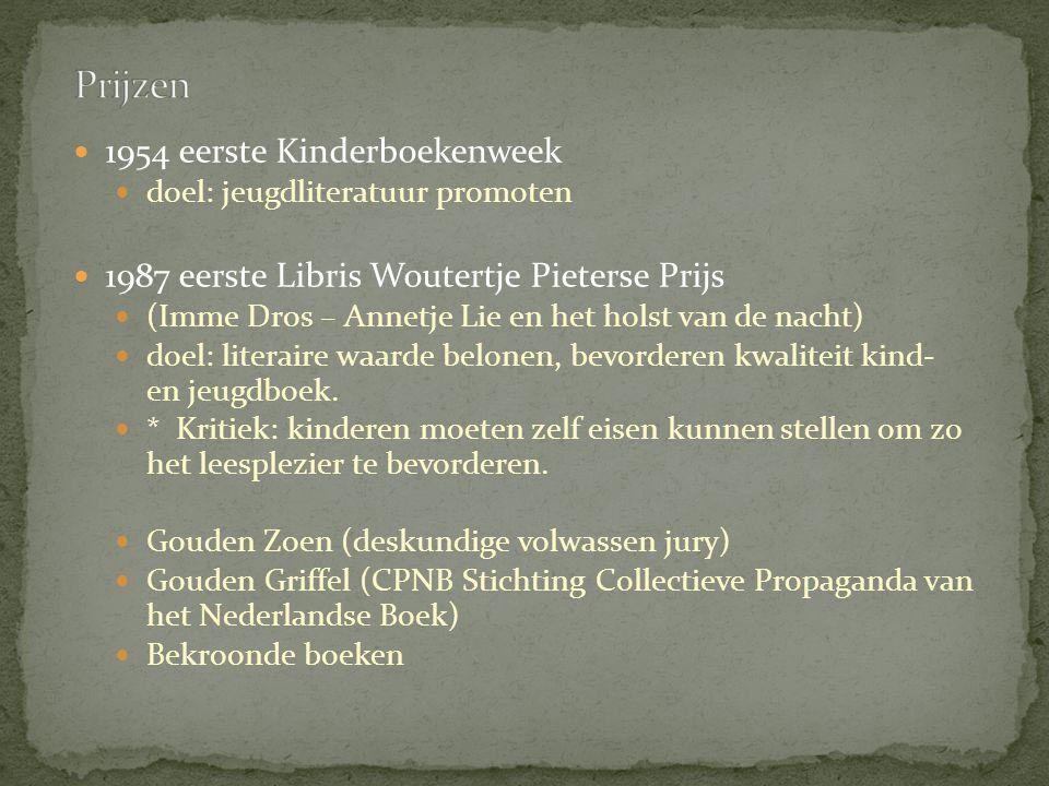 Prijzen 1954 eerste Kinderboekenweek