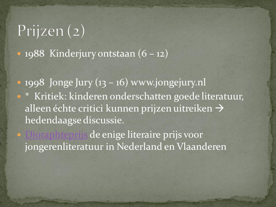 Prijzen (2) 1988 Kinderjury ontstaan (6 – 12)