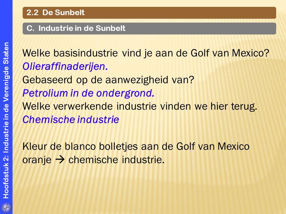 Welke basisindustrie vind je aan de Golf van Mexico