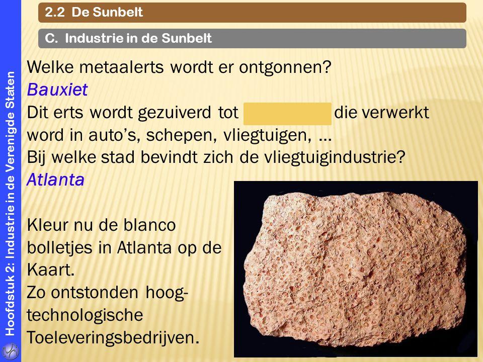 Welke metaalerts wordt er ontgonnen Bauxiet