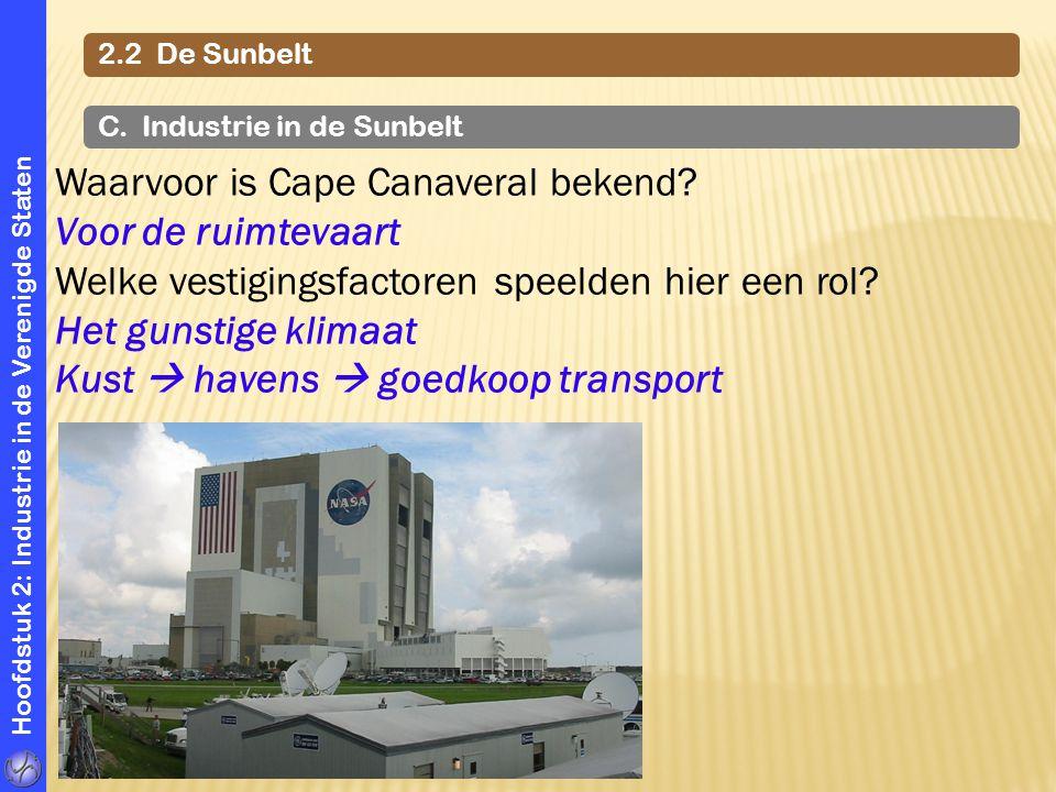 Waarvoor is Cape Canaveral bekend Voor de ruimtevaart