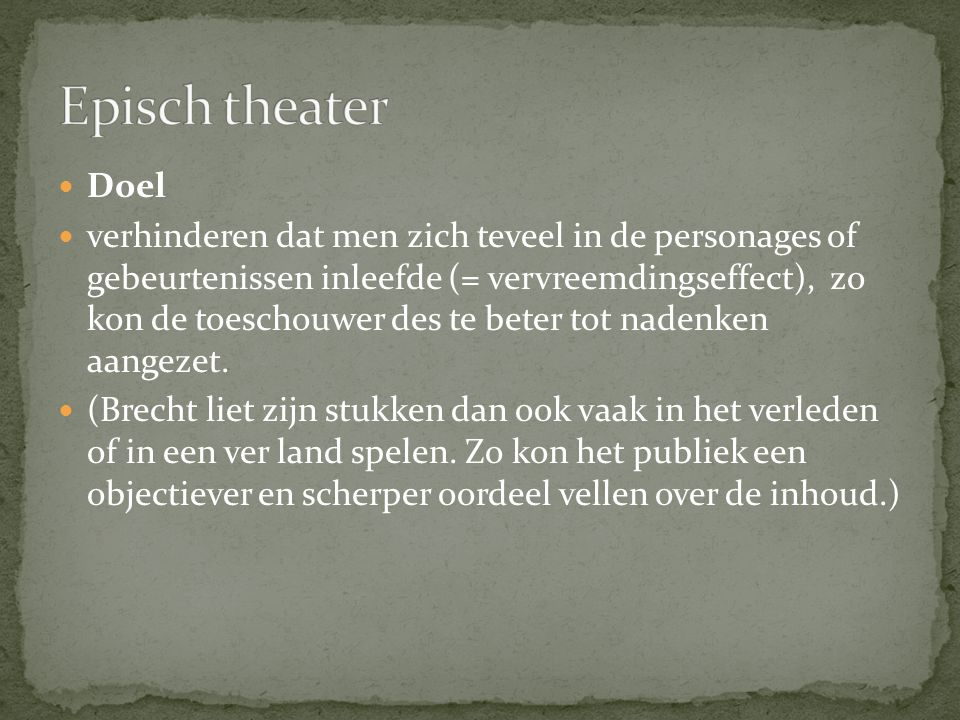 Episch theater Doel.