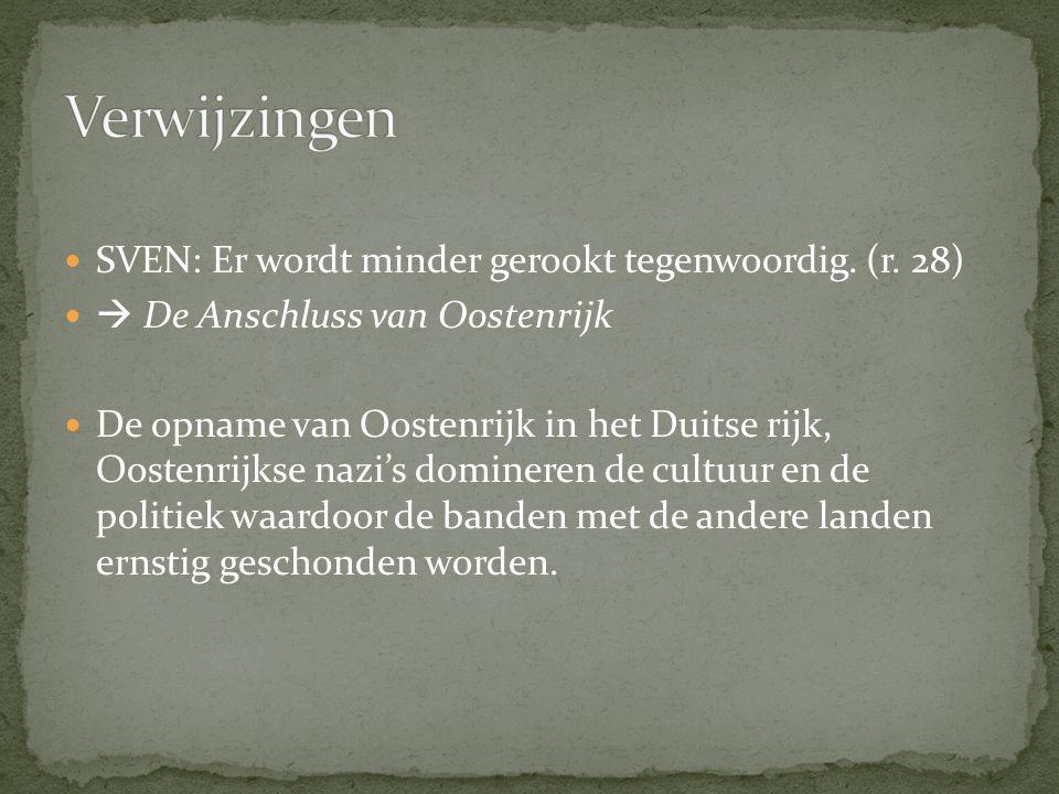 Verwijzingen SVEN: Er wordt minder gerookt tegenwoordig. (r. 28)