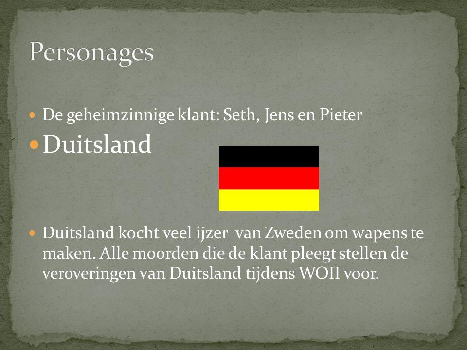 Personages Duitsland De geheimzinnige klant: Seth, Jens en Pieter