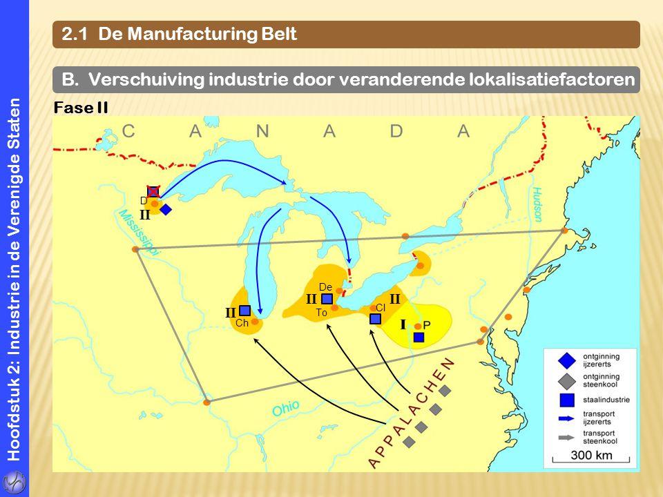 B. Verschuiving industrie door veranderende lokalisatiefactoren