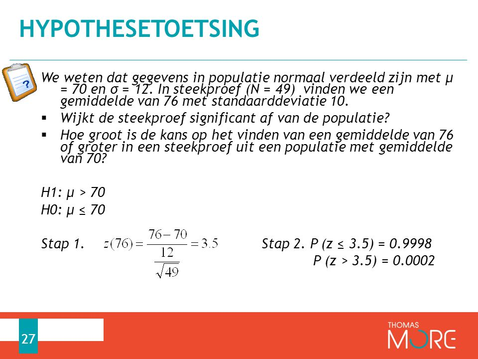 Hypothesetoetsing