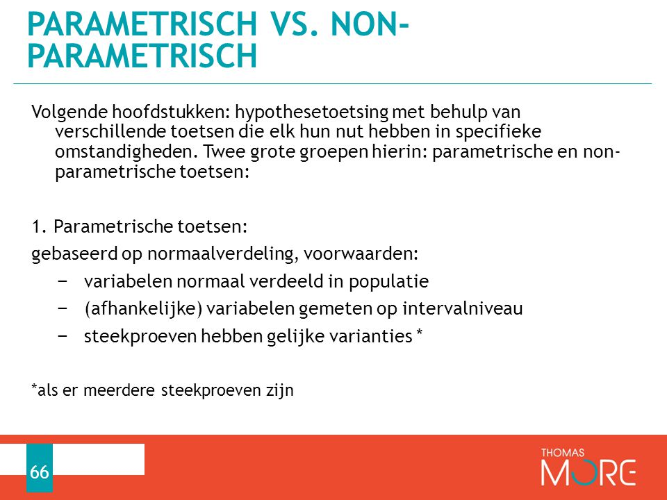 Parametrisch vs. non-parametrisch