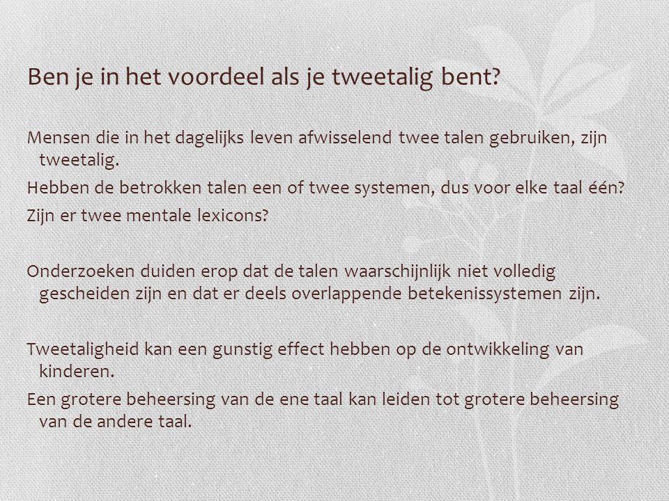Ben je in het voordeel als je tweetalig bent