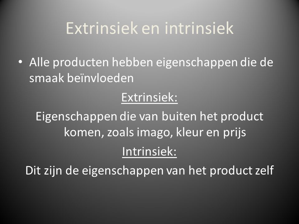 Extrinsiek en intrinsiek