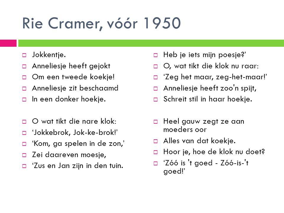 Rie Cramer, vóór 1950 Jokkentje. Anneliesje heeft gejokt