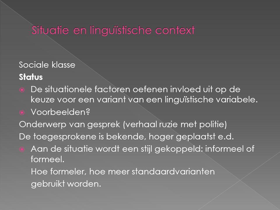 Situatie en linguïstische context