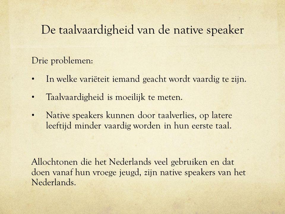 De taalvaardigheid van de native speaker