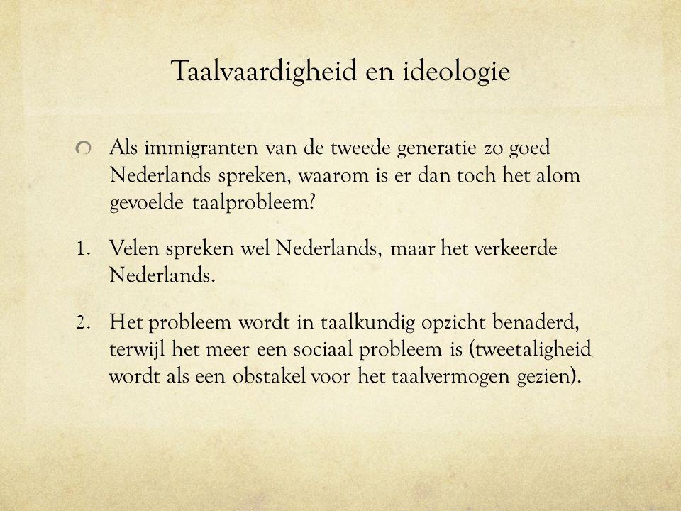 Taalvaardigheid en ideologie
