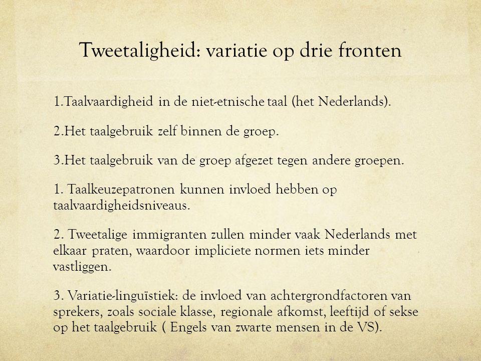 Tweetaligheid: variatie op drie fronten