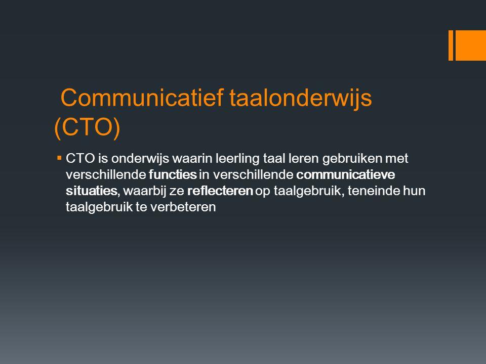 Communicatief taalonderwijs (CTO)