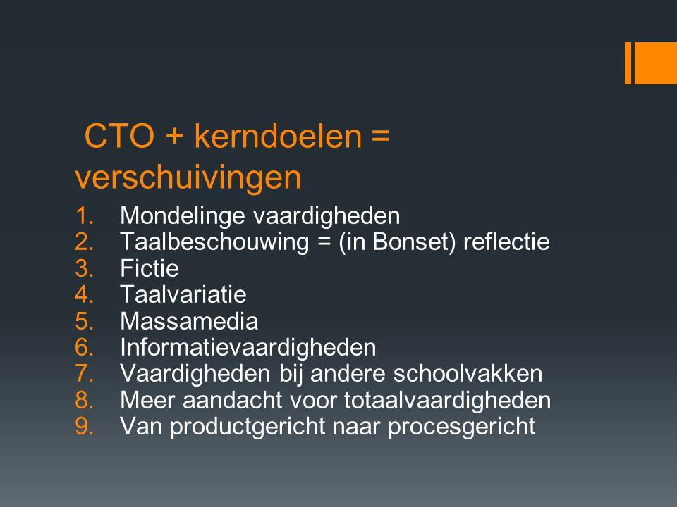 CTO + kerndoelen = verschuivingen