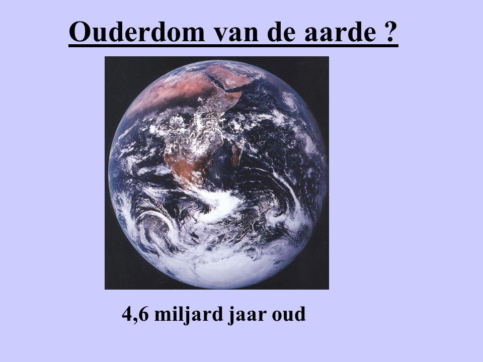 Ouderdom van de aarde 4,6 miljard jaar oud